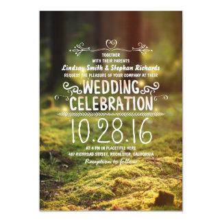"woodland  rustic outdoor wedding invitations 5"" x 7"" invitation card"