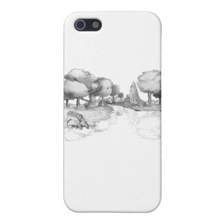 Woodland scene with deer iPhone 5/5S cases
