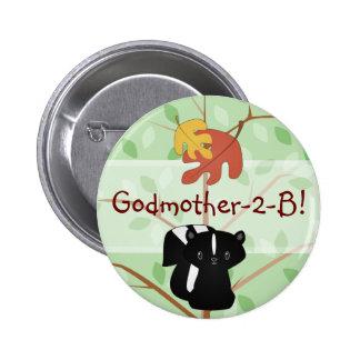 Woodland Skunk Button