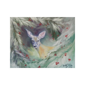 Woodland Spirit Wrapped Canvas Gallery Wrap Canvas