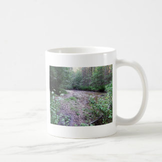 Woodland stream basic white mug