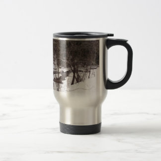 Woodland Stream In Winter Coffee Mugs