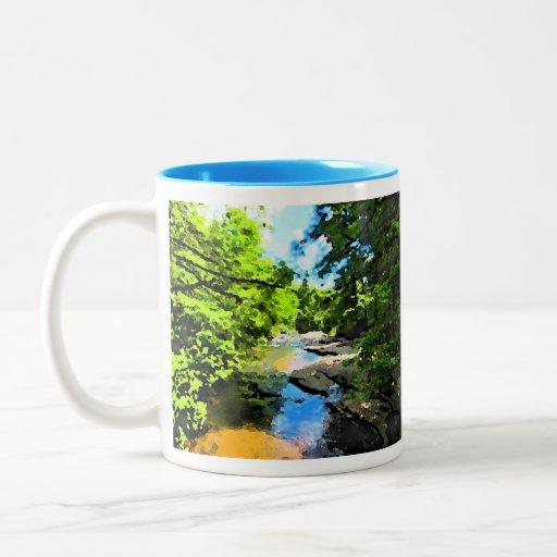 """""""Woodland Stream"""" Mugs"""