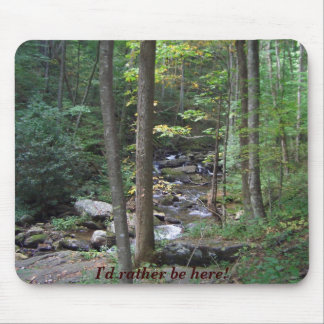 Woodland stream nature setting mouse pad