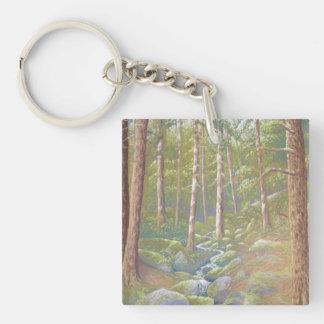 Woodland Stream, Peak District Acrylic Key Ring