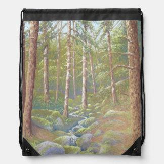Woodland Stream, Peak District Drawstring Bag
