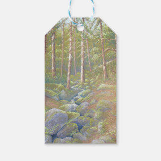 Woodland Stream, Peak District in Pastel Gift Tags