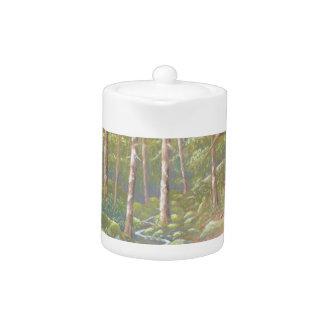 Woodland Stream, Peak District in Pastel Teapot