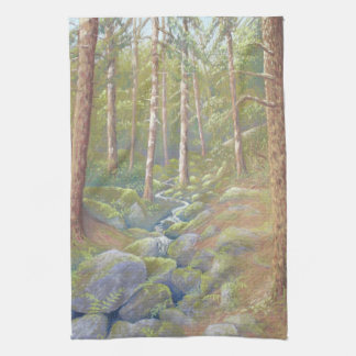Woodland Stream, Peak District Kitchen Tea Towel