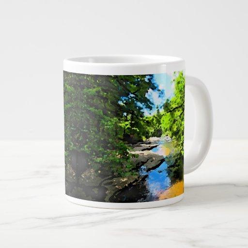 """""""Woodland Stream"""" Extra Large Mugs"""
