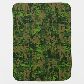 Woodland Style Digital Camouflage Decor Baby Blanket