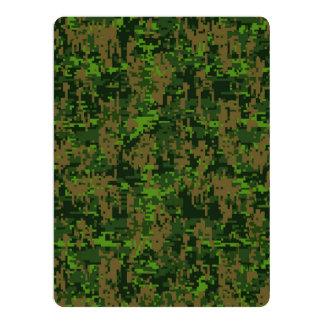 Woodland Style Digital Camouflage 17 Cm X 22 Cm Invitation Card