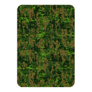 Woodland Style Digital Camouflage 9 Cm X 13 Cm Invitation Card
