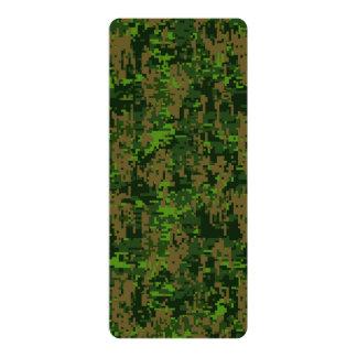 Woodland Style Digital Camouflage 10 Cm X 24 Cm Invitation Card