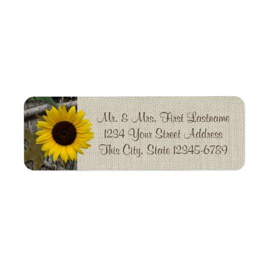 Woodland Sunflower and Burlap