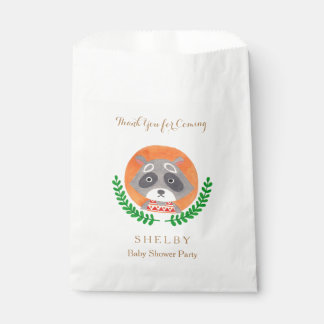 Woodland Theme - The Cute Raccoon Favor Bag Favour Bags