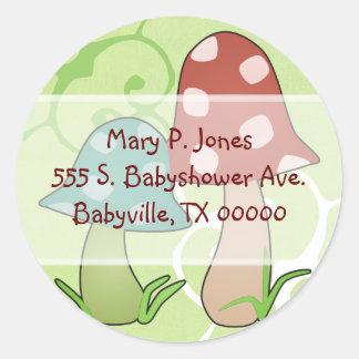 Woodland Toadstools Address Label Stickers