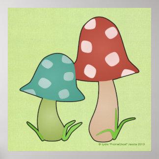 Woodland Toadstools Print