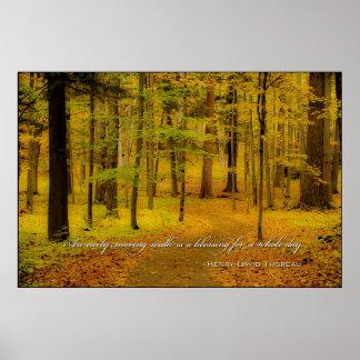Woodland Trail & Henry David Thoreau quote Print