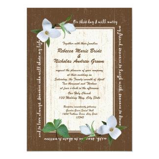 Woodland Trillium Wedding Card
