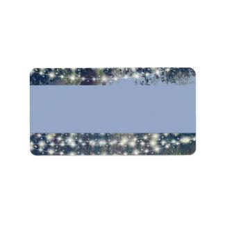 Woodland Twilight Fairy Lights Address Labels