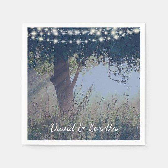 Woodland Twilight Fairy Lights Napkins Paper Serviettes