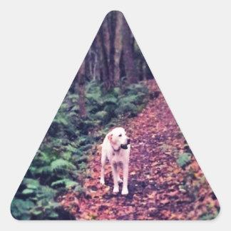 Woodland Walk Triangle Sticker