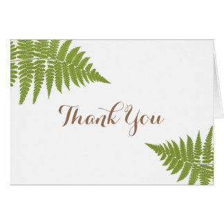 Woodland Wedding Fern Thank You Card
