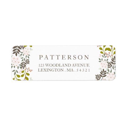 Woodland Wedding Floral Return Address