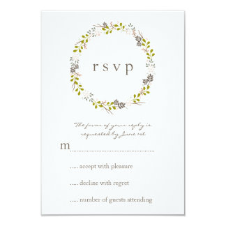 Woodland Wedding Response RSVP Card