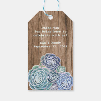 Woodland Wedding Rustic Wood Succulent Gift Tags