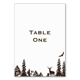 Woodland Wedding Table Name or Number Card