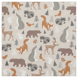 Woodland Winter Fabric
