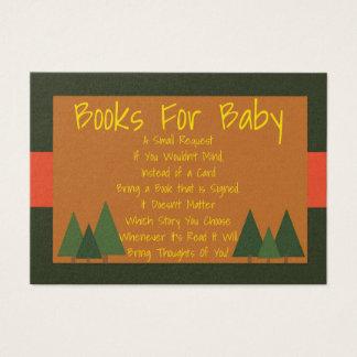 Woodlands Baby Shower Bring A Book Insert