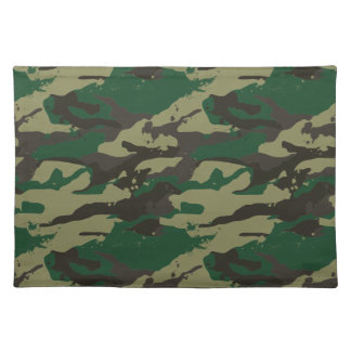 Woodlands camouflage placemat