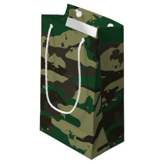 Woodlands camouflage small gift bag