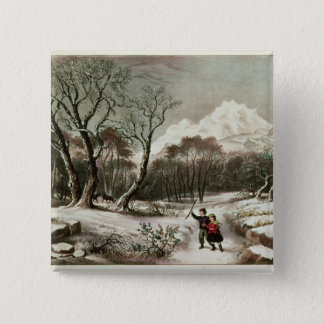 Woodlands in Winter 15 Cm Square Badge