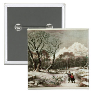 Woodlands in Winter 15 Cm Square Badge