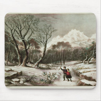 Woodlands in Winter Mouse Pad