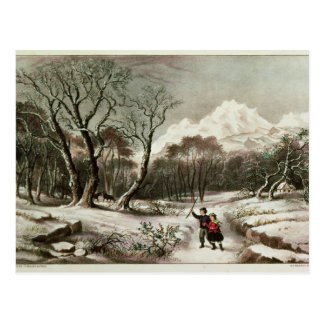 Woodlands in Winter Postcard