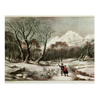 Woodlands in Winter Postcard
