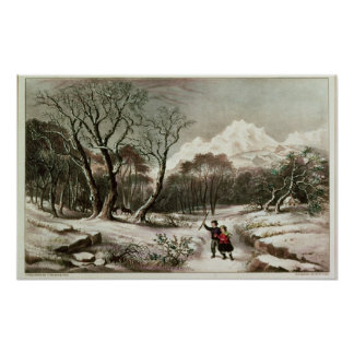 Woodlands in Winter Poster