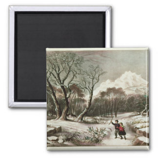 Woodlands in Winter Square Magnet