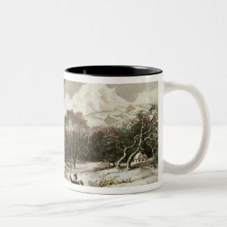 Woodlands in Winter Two-Tone Coffee Mug