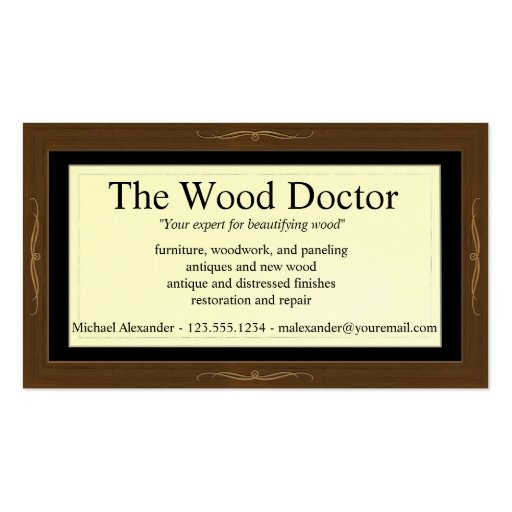 Premium wood texture business card templates page3 woodlook business card template reheart Gallery