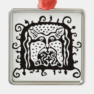 Woodman Silver-Colored Square Decoration