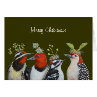 Woodpecker Christmas card