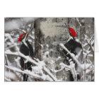 Woodpecker In Winter Card