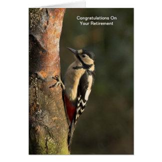 Woodpecker Retirement Card