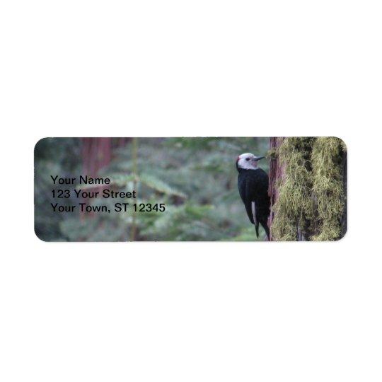 Woodpecker- Yosemite Return Address Label